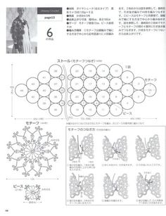 Irish lace, crochet, crochet patterns, clothing and decorations for the house, crocheted. Crochet Motif, Irish Crochet, Crochet Shawl, Crochet Patterns, Japanese Books, Japanese Patterns, Book And Magazine, Irish Lace, Crochet Accessories