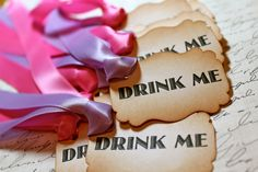 drink me tags! Maybe add a name to the other side so people can keep up with their drink