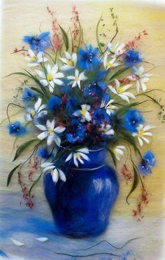842 meilleures images du tableau VASES AVEC FLEURS (en peinture ) | Flower art, Flower vases et ...