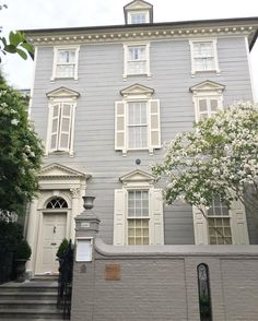 Limestone & Boxwoods - Instagram (@limestonebox) - The John Stuart house in Charleston, South Carolina.