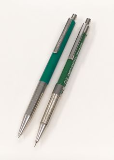 Vintage Green & Chrome – HAUSER ballpoint pen & FABER-CASTELL TK-fine 9703 drafting pencil.