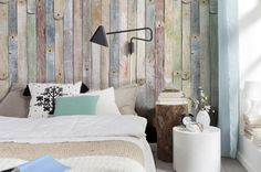 Wallpaper that looks like coloured wood