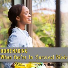 How do you keep your home straight when you can't even find time to keep your head on straight? Here are 5 things you can do when you're in survival mode! Homemaking When You're In Survival Mode ~ Club31Women