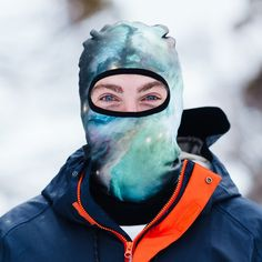 Beardo® Galaxy facemask will keep you stylish and warm on the slopes. The World's best Ski Masks ▶︎ Shop Now! Snowboarding Gear, Mask Shop, Galaxy Design, Balaclava, Skiing, Print Design, Warm, Cosmos, Masks