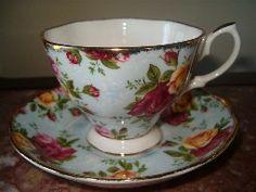 blue teacup&saucer