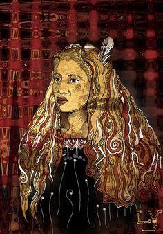 "Artworks of Luka Vogt titled ""Wahine"" Indian Artist, Indigenous Art, Scary Art, New Zealand Art, Art Inspo, Maori Art, Prophetic Art, Female Art, Nz Art"