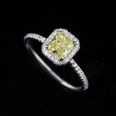 Fancy Yellow Canary Diamond Engagement Ring Mounting by OroSpot