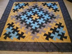 Twister King Quilt top