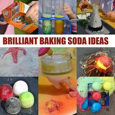 Amazing baking soda experiment ideas for kids. Make a baking soda volcano, fizzy potions, fairy potions and lots more baking soda science ideas for kids Chemistry For Kids, Kitchen Chemistry, Kitchen Science, Baking Soda Experiments, Cool Science Experiments, Science Fair Projects, Science Tricks, Science Activities For Kids, Science Ideas