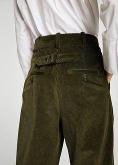 Pantalón pana pinzas | MANGO