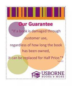 Usborne has an amazing Guarantee!