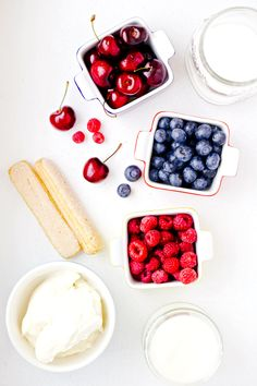 Fourth of July DIY: Festive Berry Cherry No-Bake Trifle in a Jar