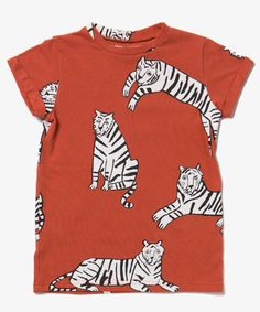 Rusty orange Casual Tigers tee