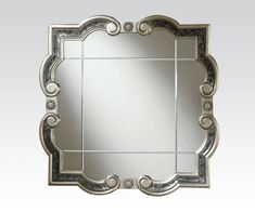 This Acme Furniture Blyss Accent Wall Mirror will your home an elegant piece of artwork. The decorative frame features ornate detailing with distressed gray accents that will complement any décor. Baby Furniture Sets, Furniture Direct, Acme Furniture, Coaster Furniture, Discount Furniture, Cheap Mirrors, Round Mirrors, Mirror Set, Black Mirror