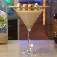 Martini Flavors, Martinis, Banana Cocktails, Roasted Banana, Ice Cream Floats, Tipsy Bartender, Banana Slice, Irish Cream, Margaritas