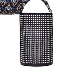Marni Handbags - MARNI leather black and white woven bucket bag