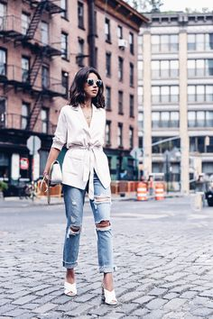 VivaLuxury - Fashion Blog by Annabelle Fleur: NTFW DAY 2 - SOFT BLAZER & GUCCI GG MARMONT