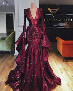 Sparkly Couture Dubai Pageant Evening Dresses With Big Sleeves Aibye Muslim Prom Party Gowns Abendkleider Robe de soiree Longue(China) Red Wedding Dresses, Prom Dresses, Sexy Dresses, Evening Dresses For Weddings, Beach Dresses, Summer Dresses, Vintage Dresses, Corset Dresses, Red Evening Dresses