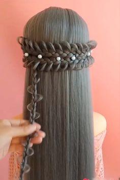 Hairstyles For Medium Length Hair Tutorial, Hair Tutorials For Medium Hair, Ponytail Hairstyles Tutorial, Easy Hairstyles For Long Hair, Braids For Short Hair, Braided Hairstyles, Easy Hairstyle Video, Balayage Hair Tutorial, Hair Up Styles
