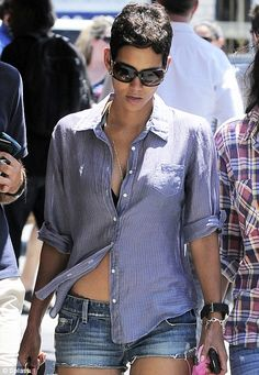 Heeeeeey, Halle! She makes anything look good--so naturally, I want this shirt.