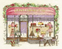 Patisserie Cross Stitch Kit £22.50 | Past Impressions | DMC