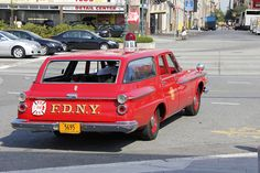 Vintage Fdny | Picture Of Vintage New York City Fire Department Vehicle. Photo taken ...
