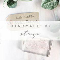 Custom Handmade By Stamp Handmade With Love Stamp Handmade