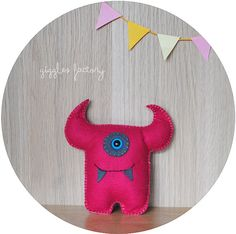 hand made felt monster softie by gigglefactory on Etsy, €12.00
