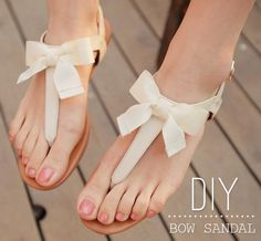 FashionHacks.me  Turn Your Strap Sandals Into Bow Sandals http://www.fashionhacks.me/clothing-hacks/turn-your-strap-sandals-into-diy-bow-sandals/