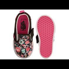 Vans Shoes - VANS Girls Toddler Slip-On Multi Floral Sneakers