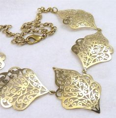 BRASS * SilverSari Jali LOTUS NECKLACE * Hand-crafted by Silversmiths *Free Size