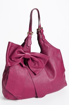 RED Valentino 'Bow' Leather Hobo available at #Nordstrom LOVE in black DDGorgeous