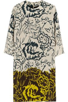 Etro Printed silk crepe de chine dress | NET-A-PORTER