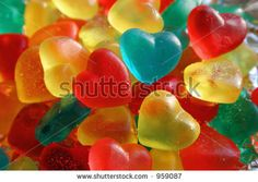Heart-Shaped Gummy Candies. Stock Photo 959087 : Shutterstock