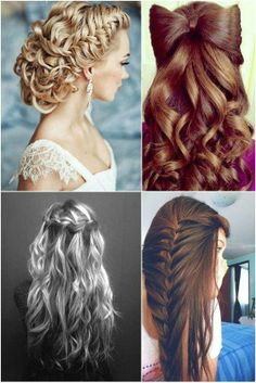 Hairstyle - I love the bottom left one. Not that I would have any idea how to do it! lol.