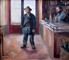 Edvard Munch, In the Bar, 1890 Edvard Munch, Oil On Canvas, Canvas Wall Art, Wall Art Prints, Gustav Klimt, Wassily Kandinsky, Monet, Karl Schmidt Rottluff, Städel Museum