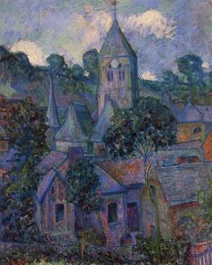 Giverny at Night - Theodore Earl Butler (American , 1861-1936) Impressionism