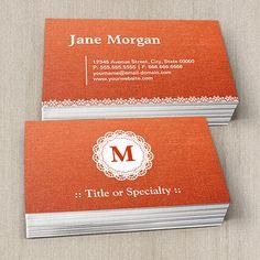 Creative baseball coach baseball trainer business card pinterest elegant lace monogram orange pattern business card templates colourmoves