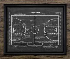 Basketball Court Patent Print  Basketballplatz von InstantGraphics