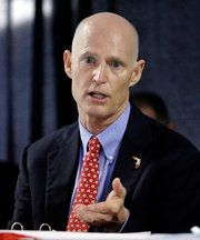 Republican governor Rick Scott of Florida signed a law on Friday that cut state funding to clinics that perform abortions. State funding of abortion was already prohibited in Florida, but the law signed by the this cretin governor also cut off funding for preventive services at clinics that also provide abortions. which means the end of birth control, cancer screenings, tests for diseases and other services for thousands of low-income, vulnerable women across Florida.