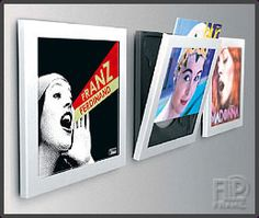Play and Display Vinyl Mount (easy to interchange the vinyl you display) - let your vinyl reflect your mood!