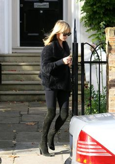 kate moss over the knee boots Black Boots Outfit, Over The Top, Kate Moss Style, Lace Mini Skirts, Boating Outfit, Casual Winter Outfits, Over The Knee Boots, Stuart Weitzman, Outfit