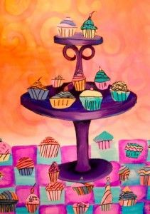 cupcake -Art Auction project