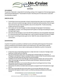 awesome impressive bartender resume sample that brings you to a ... - Examples Of Bartending Resumes