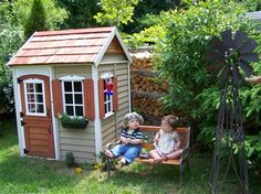who doesnt want a play house? I had one and used it until I was too tall to fit through the door. (mine was also bigger and built by my dad :)