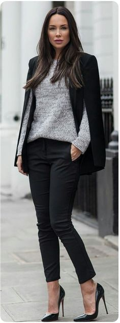 Latest Fashion Trends – This casual outfit is perfect for spring break or the Fall. 33 Top Fashion Ideas For You This Fall – Latest Fashion Trends – This casual outfit is perfect for spring break or the Fall. Classy Work Outfits, Winter Outfits For Work, Business Casual Outfits, Work Casual, Fall Outfits, Office Outfits, Casual Chic, Dress Casual, Winter Office Outfit
