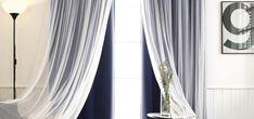 Aurora Home Mix & Match Blackout Tulle Lace Bronze Grommet 4 Piece Curtain Panel Set x 63 Navy) - Blackout Curtains - Ideas of Blackout Curtains White Sheer Curtains, Tulle Curtains, Sheer Curtain Panels, Grommet Curtains, Panel Curtains, Blackout Curtains, Navy Curtains, Blackout Panels, Bedroom Curtains