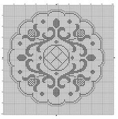 123 Cross Stitch, Biscornu Cross Stitch, Cross Stitch Charts, Cross Stitch Designs, Cross Stitch Patterns, Blackwork Embroidery, Cross Stitch Embroidery, Crochet Designs, Doilies
