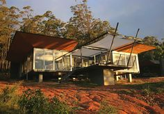 Shed roof shed roof design and modern shed on pinterest for Solar efficient house design