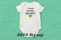 Grandpa Gift Grandad Gift I Can/'t Wait To Meet You Grandad Baby Bodysuit New Grandbaby Announcement Grandparents Pregnancy Announcement